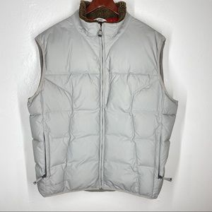 The Gap Down Filled Puffer Vest Gray 75% Down L